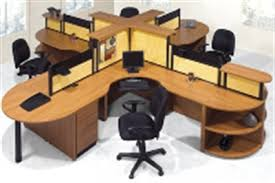 the office leader laminate cubicle cluster