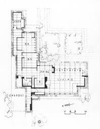 Frank Lloyd Wright Home And Studio Floor Plan Usonia 1 99 Invisible