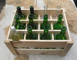 custom made small space pantry wine rack crate handmade with