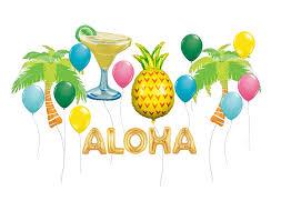 Tropical Decor Tropical Party Balloon Kit Pineapple Balloons Margarita Party