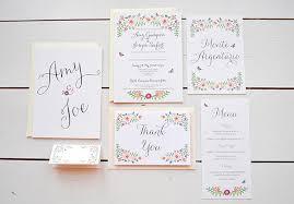 wedding invitation companies wedding invitation stationery rectangle floral pattern green