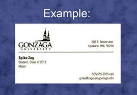 student business card ordering business cards gonzaga