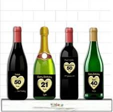 Anniversary Wine Bottles Personalised 50th Wedding Anniversary Printable Digital
