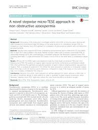 a novel stepwise micro tese approach in non obstructive