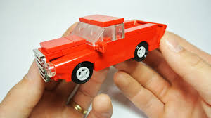 lego ford truck how to build the vintage american red ford pickup truck youtube