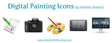 Painting Icon Creating A Set Of Digital Painting Icons Part 3 Paint Brush Icon