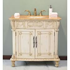 virtu usa casablanca 38 in antique white single bathroom vanity
