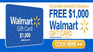 free walmart gift card 1000