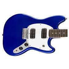 squire mustang squier by fender bullet mustang hh electric guitar imperial blue