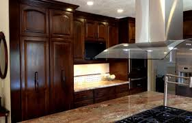 agreeable brown color mahogany wood kitchen cabinets features