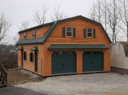 24 u0027 x 28 u0027 raised roof gambrel garage with 8 u0027 overhang in new