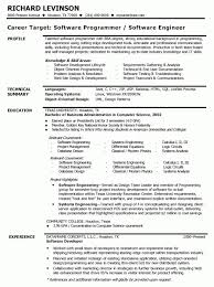 Resume Templates For Software Engineer Software Developer Resume Example Chemical Engineering Resumes