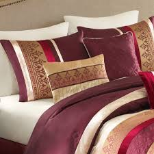 Red King Size Comforter Sets Better Homes And Gardens Dana 7 Piece Bedding Comforter Set Red