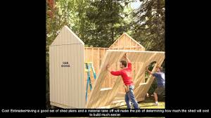 How To Build A Storage Shed Ramp by Shed Ramp Plans Youtube