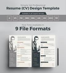 Good Resume Samples Pdf by Simple Yet Professional Resume Cv Design Templates In Ai Eps