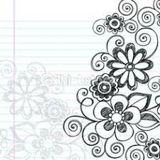 pictures simple flower border designs to draw drawing gallery