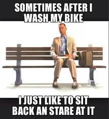 Funny Motorcycle Meme - sometimes after i wash my bike i just like to sit