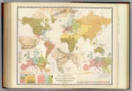 Realistic Map Of The World by Religion Map Mid 19th Century Scottish Map Of World Religion