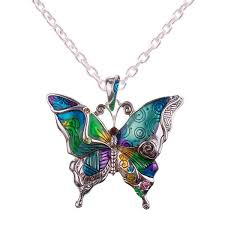 necklace butterfly images Wholesale butterfly necklace 12x pack helping animals at risk jpg