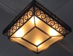 wrought iron flush mount lighting french art deco wrought iron flush mount ceiling light with swirls