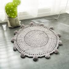 indoor carpet ball table handmade diameter 80cm mat kids yarn ball blankets baby knitting