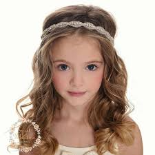 bohemian headbands rhinestone bridal headband wedding headband flower girl headband