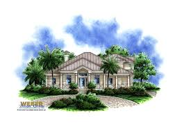 Mediterranean Homes Plans Caribbean House Plans Island Style Architecture Floor Plans W
