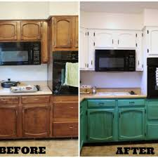 Painted Old Kitchen Cabinets Painted Kitchen Cabinets Before And After Before And After By