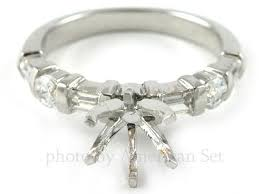 palladium jewelry palladium baguette diamond engagement ring solitaire setting