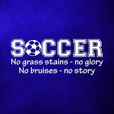 soccer no grass stains no glory wall art decal quote words