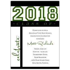graduation invitations class of celebration green graduation invitations paperstyle