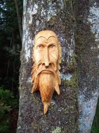 wood tree spirit green wall hanging by woodforddelldesigns