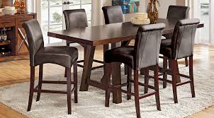 mango burnished walnut 5 pc counter height dining room dining