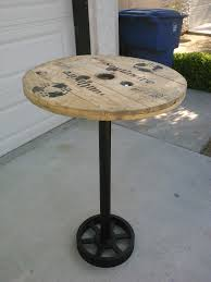 furniture round table from recycled wood featuring circle wooden