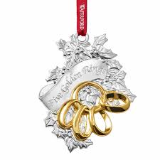 decor five golden rings waterford christmas ornaments for