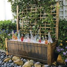 Garden With Trellis Flower Box With Trellis Garden U0026 Planters Brylanehome