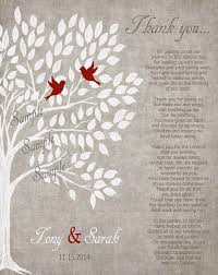 wedding gift parents parents wedding gift personalized parent s poem thank you