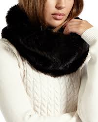 ted baker shayla faux fur snood in black lyst