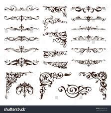 royalty free art deco design elements of vintage u2026 486032749 stock
