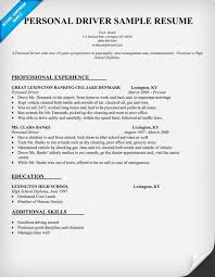 Sample Resume Of Driver by Personal Driver Resume Sample Resumecompanion Com Amg Tampa