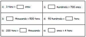 place value in expanded form value worksheets