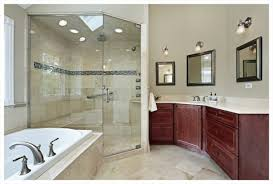 Ceiling Mount Storage by Recessed Ceiling Lights Against Wall Mounted Shower Head Under