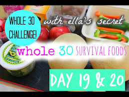whole 30 day 19 u002620 survival foods list for whole30 youtube