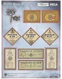 harry potter half blood prince 10 piece potion label magnet set