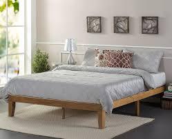 wooden platform bed zinus wood platform bed reviews wayfair best