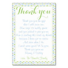 baby shower thank you cards thank you table cards place cards zazzle