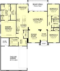 656363 3 bedroom 2 bath country french house plans floor