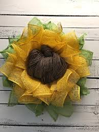 sunflower wreath sunflower wreath flower wreath s day gift