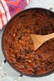 slow cooker three bean beef chili recipe video