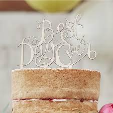 b cake topper best day wooden cake topper boho